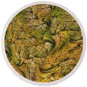 Fractal Leaf Mat-- 2 Round Beach Towel