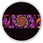 Fractal Multicolored Depth Round Beach Towel