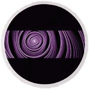 Fractal Purple Swirl Round Beach Towel