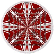 Fractal Reflections Round Beach Towel