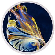 Fractal - Sea Creature Round Beach Towel