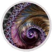 Fractal Spiral 2 - A Fractal Abstract Round Beach Towel