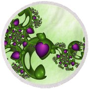 Fractal Tears Of Joy Round Beach Towel