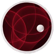 Fractal The Lonesome Pearl 2 Round Beach Towel