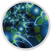 Fractal Time Travel Round Beach Towel