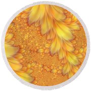Fractals Of A Feather Round Beach Towel