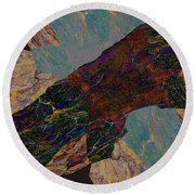 Fracture Section Il Round Beach Towel