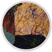 Fracture Section Ix Round Beach Towel