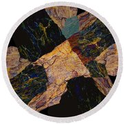 Fracture Section Viii Round Beach Towel
