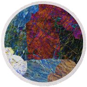 Fracture Section Xi Round Beach Towel