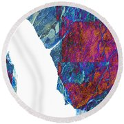 Fracture Section Xiii Round Beach Towel