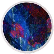 Fracture Section Xv Round Beach Towel