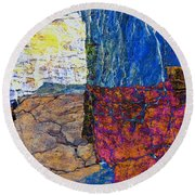 Fracture Section Xvii Round Beach Towel