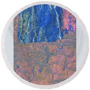 Fracture Section Xxlll Round Beach Towel