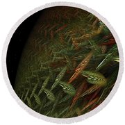 Fragile Biosphere Round Beach Towel