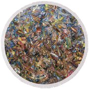 Fragmented Fall - Square Round Beach Towel