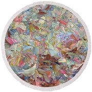Fragmented Hill Round Beach Towel