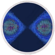 Fragmented Vision Round Beach Towel