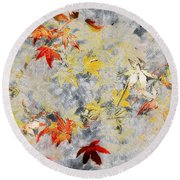 Fragments Of Fall Round Beach Towel