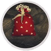 Fragrance Pouch Round Beach Towel