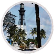 Framed By The Tropics Round Beach Towel