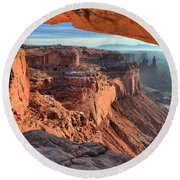 Framed Canyon Round Beach Towel