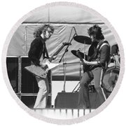 Jamming In Oakland 1976 Round Beach Towel