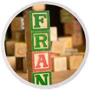 Fran - Alphabet Blocks Round Beach Towel