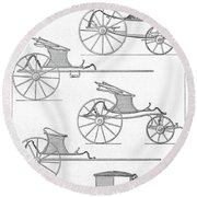 France Carriages, C1740 Round Beach Towel
