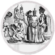France English Occupation Round Beach Towel