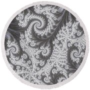 Franciful Frost  Round Beach Towel