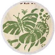 Francis Ponge: Proemes Round Beach Towel