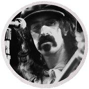 Frank Zappa - Watercolor Round Beach Towel