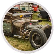 Frankenstein '28 Model A Sedan Round Beach Towel