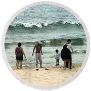 Frankfort Beach Round Beach Towel