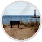 Frankfort Shore Round Beach Towel