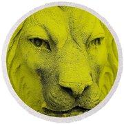 Frankie Lion Yellow Round Beach Towel