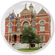 Franklin County Courthouse 2 Round Beach Towel