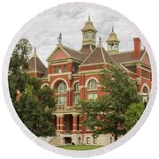 Franklin County Courthouse 3 Round Beach Towel