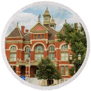 Franklin County Courthouse 4 Round Beach Towel