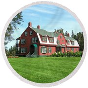 Franklin D. Roosevelts Beloved Island Campobello Round Beach Towel by Edward Fielding