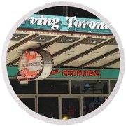 Fran's Restaurant  Toronto Diner Icon Round Beach Towel