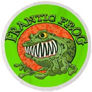 Frantic Frog Round Beach Towel