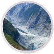 Franz Josef Glacier Round Beach Towel