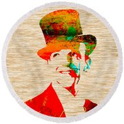 Fred Astaire Round Beach Towel