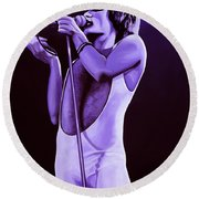 Freddie Mercury Of Queen Round Beach Towel by Paul Meijering