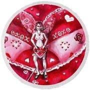 Free As A Valentines Love Round Beach Towel by Shana Rowe Jackson