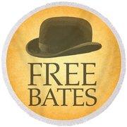 Free Bates Round Beach Towel