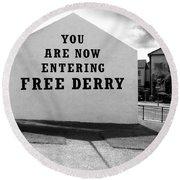 Free Derry Corner 9 Round Beach Towel