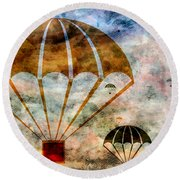 Free Falling Round Beach Towel by Angelina Vick